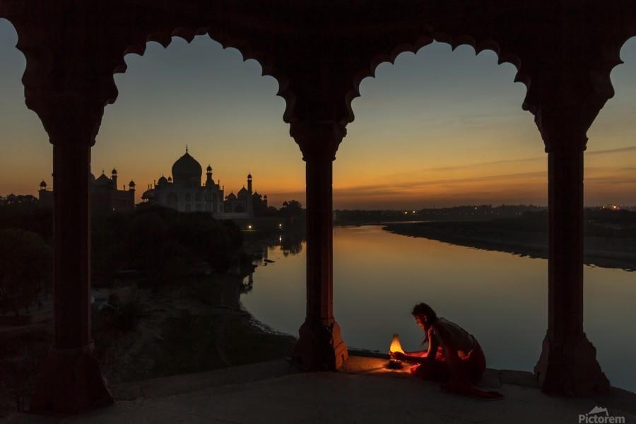 Illuminating the Taj  Print